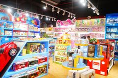 Free Children`s Toy Shops, Lots Of New, Interesting Toys Are On Sale Stock Photography - 102934022