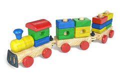 Children's toy a steam locomotive Stock Photography