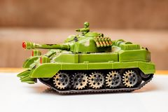 Children`s toy tank, birthday gift, sale and purchase of childre. N`s toys Royalty Free Stock Images