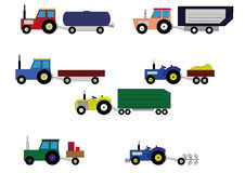 Children's toy tractor Royalty Free Stock Photography