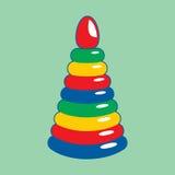 Children's toy. Vector illustration. Baby educational toys. Colored pyramid. Vector illustration Royalty Free Stock Photos