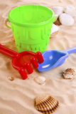 Children's toys on the beach Royalty Free Stock Photo