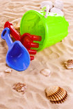 Children's toys on the beach Royalty Free Stock Photography