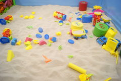Children's toys and beach Stock Image