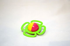 Children's toys. Bright children's toys on a white background Royalty Free Stock Photography