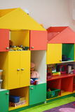 Children's toys in the closet Royalty Free Stock Photos