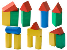 Children's toys isolated Royalty Free Stock Photography
