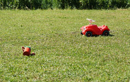 Children's toys on the lawn. Stock Images
