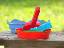 Children's toys in sandbox Stock Photography