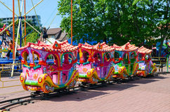 Children's train attraction at Basanaviciaus Street in Palanga Royalty Free Stock Photos