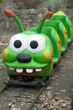 Children`s train. In the form of a caterpillar Royalty Free Stock Image