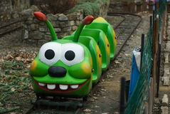 Children`s train. In the form of a caterpillar Royalty Free Stock Photos