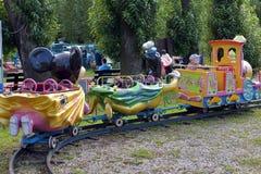 Children's train ride Stock Photo