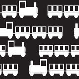 Children's Train Seamless Pattern Vector Royalty Free Stock Photo