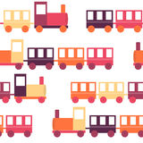 Children's Train Seamless Pattern Vector Stock Images