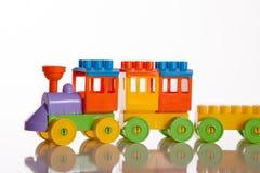 Children`s train toy stock image