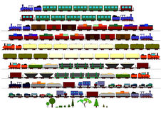Children's Trains Stock Image