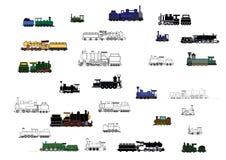 Children's_trains Fotografering för Bildbyråer