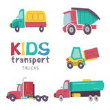 Kids transport collection vector illustration