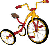 Children's tricycle. Cartoon Stock Image