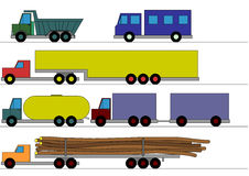 Children's trucks Royalty Free Stock Photos