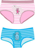 Childrens Underpants. With cats. Vector illustration Stock Images