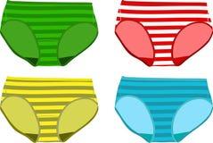 Children's Underpants. Set of Children's Underpants. Vector illustration Royalty Free Stock Photography