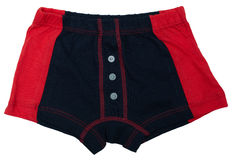 Children's underwear - black and red. Colors isolated on white background Stock Photos