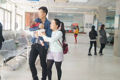 Children's vaccination. In Xixiang, Shenzhen epidemic prevention station, China Royalty Free Stock Photography