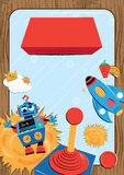 Children's Video Game Party Poster Illustration Stock Image