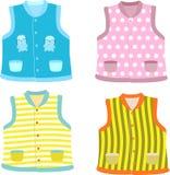 Children's waistcoat. Set of Children's waistcoats. Vector illustration Royalty Free Stock Images