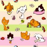 Children's wallpaper. pets. vector illustration