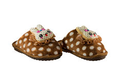 Children's warm slippers Stock Images