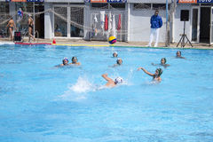 Children`s water polo team Stock Image