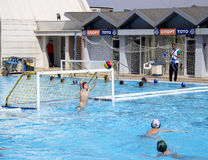 Children`s water polo team Royalty Free Stock Photography