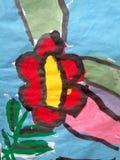 Children's watercolor painting stock illustration