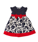 Children S Wear. Baby Dress On A White Background Royalty Free Stock Photography