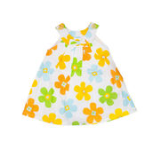 Children's wear. Baby dress on a white background Royalty Free Stock Photography