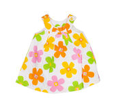 Children's wear. Baby dress on a white background Royalty Free Stock Photos
