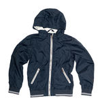 Children's wear - blue jacket Royalty Free Stock Photography