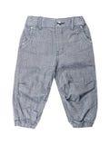 Children`s wear -  Cotton elegant grey kid`s trousers Stock Photos