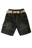 Children's wear - jean shorts Stock Photo
