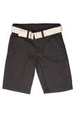 Children`s wear - jean shorts. Isolated on a white background royalty free stock photography