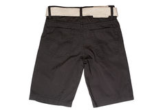 Children`s wear - jean shorts. Isolated on a white background royalty free stock image