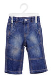 Children's wear - jeans isolated over white Stock Photos