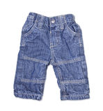 Children's wear - jeans isolated over white Stock Images