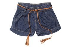 Children`s wear - jeans shorts stock image