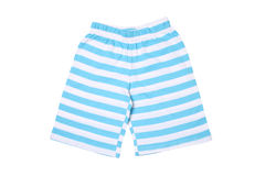 Children's wear - striped shorts Royalty Free Stock Photos