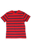 Children`s wear - striped t-shirt. Isolated on white background royalty free stock images