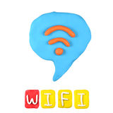 children's wifi plasticine on a white background Stock Photography